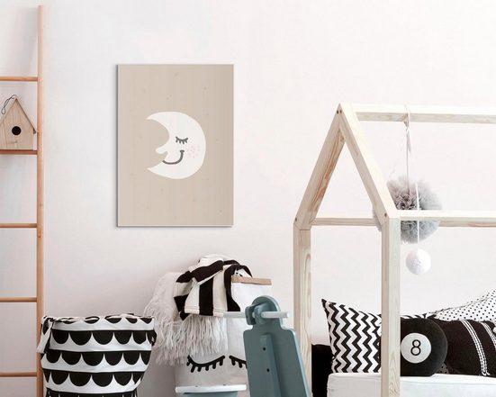 Wandbild »Slim Frame White 50x70 Sleeping Moon«