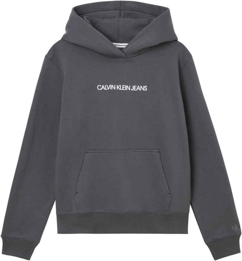 Calvin Klein Jeans Kapuzensweatshirt »SHRUNKEN INSTIT FLEECE HOODIE« mit Calvin Klein Jeans Log-Schriftzug