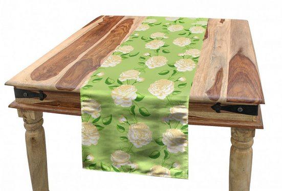 Abakuhaus Tischläufer »Esszimmer Küche Rechteckiger Dekorativer Tischläufer«, Vintage Rose Frische gelbe Blumen