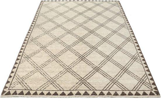 Teppich »Erik«, Home affaire, rechteckig, Höhe 10 mm, mit Fransen, Wohnzimmer