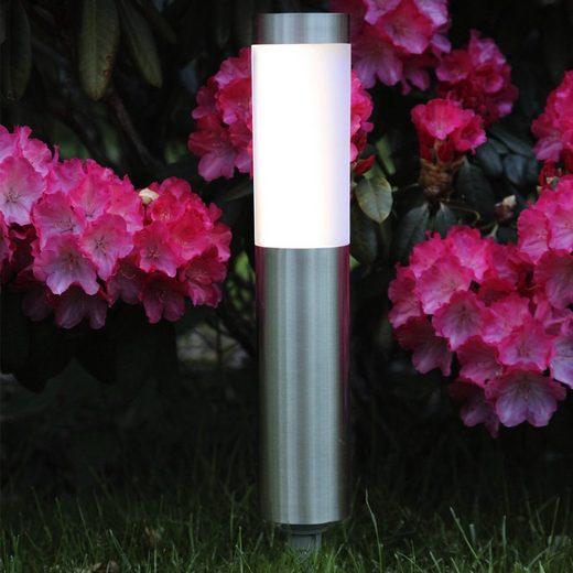STAR TRADING LED Pollerleuchte »LED Solar Wegleuchte CORDOBA Edelstahl warmweiße LED 20lm Dämmerungsensor«