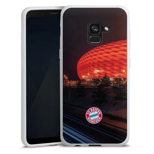 DeinDesign Handyhülle »Allianz Arena bei Nacht FCB« Samsung Galaxy A8 (2018), Hülle FCB Stadion FC Bayern München
