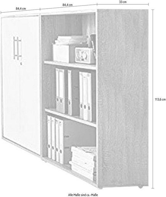 Büromöbel Sets - BMG Büro Set »TABOR 1 niedrig«, (Set, 2 tlg)  - Onlineshop OTTO