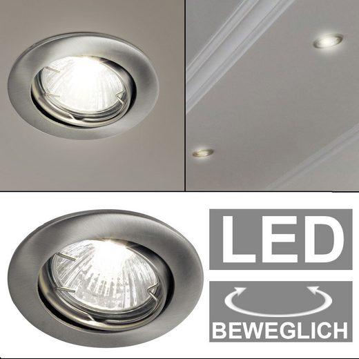 etc-shop LED Einbaustrahler, Decken Einbau Lampe Leuchte Spot verstellbar im Set inkl. LED Leuchtmittel Karton beschädigt