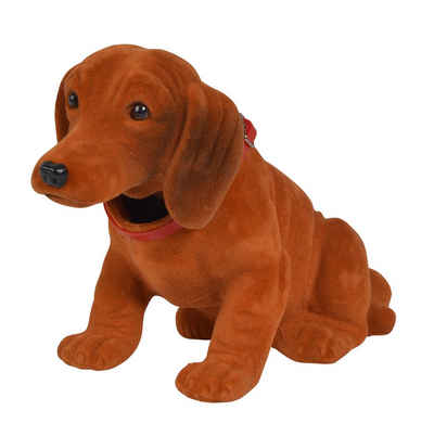 SIMBA Tierfigur »Simba Wackel Dackel Wackelkopf Waldi- Hund Deko Kult - Hutablage Retro Farbwahl«