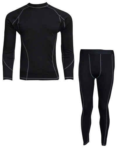 PROANTI Funktionsunterhemd, aus Baumwolle elastisch und warm, zum Ski- und Motorradfahren geeignet