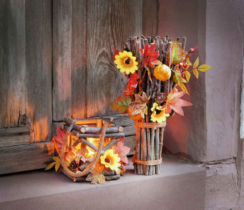 HomeLiving Windlicht »Herbstzeit«