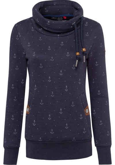 "Ragwear Sweater »RYLIE MARINA« mit maritimen Allover ""Anker""-Druck"