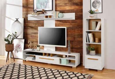 """Home affaire Wohnzimmer-Set »Ance«, (Set, 3-St), Wohnzimmer-Set """"Ance"""" aus Kiefer massiv, 3 tlg"""