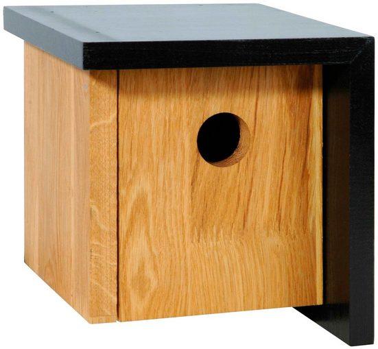 LUXUS-VOGELHAUS Nistkasten »Würfel«, schwarz, BxTxH: 17x17x18 cm