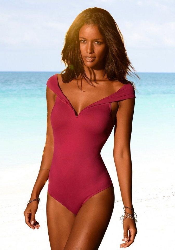 Bademode - LASCANA Badeanzug, in Off Shoulder Form › rosa  - Onlineshop OTTO