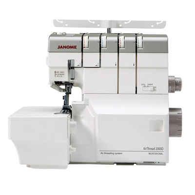 Janome Overlock-Nähmaschine Air Thread 2000D Professional, Die innovative Overlock mit Lufteinfädelung