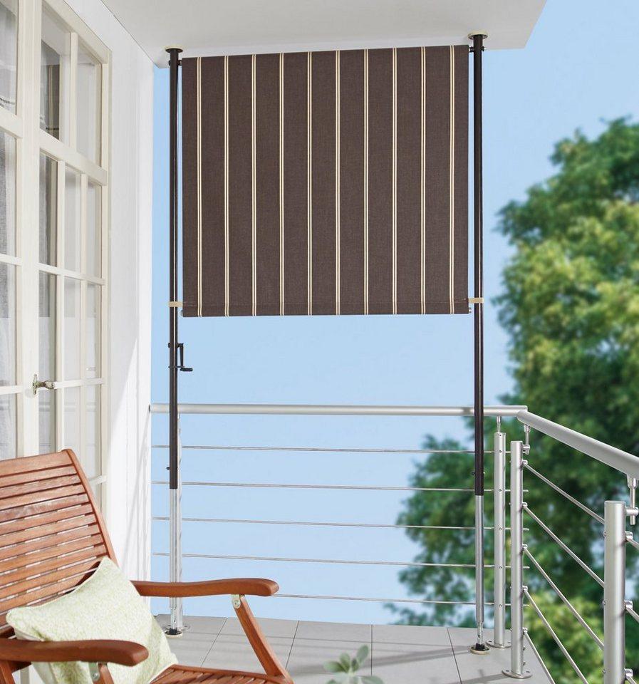 Angerer Freizeitmobel Balkonsichtschutz Braun Weiss Bxh 120x225