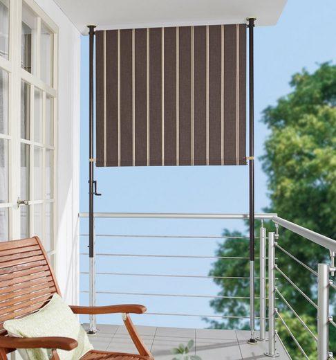 ANGERER FREIZEITMÖBEL Balkonsichtschutz braun/weiß, BxH: 120x225 cm