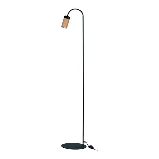 BRITOP LIGHTING Stehlampe »ANNICK«, Flexibeler Arm, LED-Leuchtmittel inkl., aus edlem Eichenholz und Metall, Made in Europe