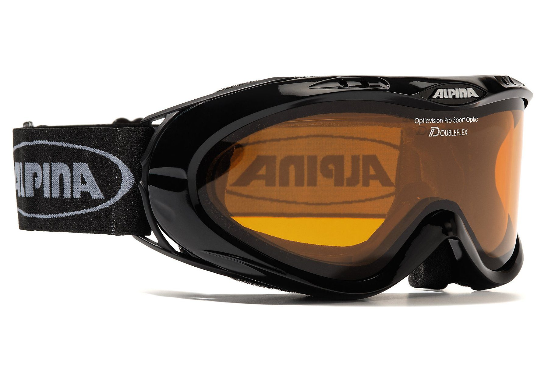 Skibrille, schwarz, für Brillenträger, Alpina, »Opticvision«, Made in Germany