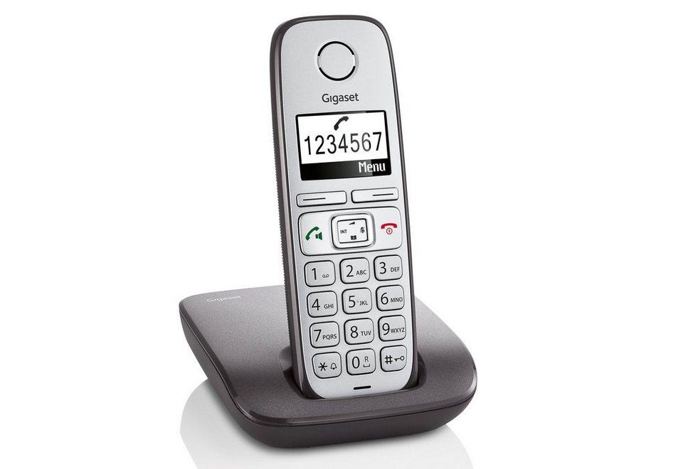 Gigaset E310 Schnurloses DECT Telefon in anthrazit