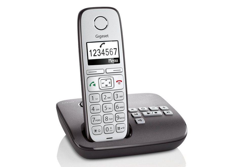 Gigaset E310 A Schnurloses DECT Telefon mit AB in anthrazit