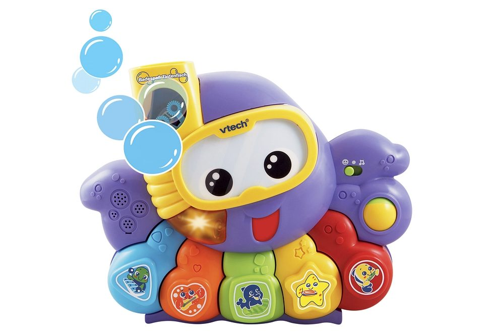 VTech Badespielzeug mit Sound und Funktion »Badespaß-Tintenfisch«