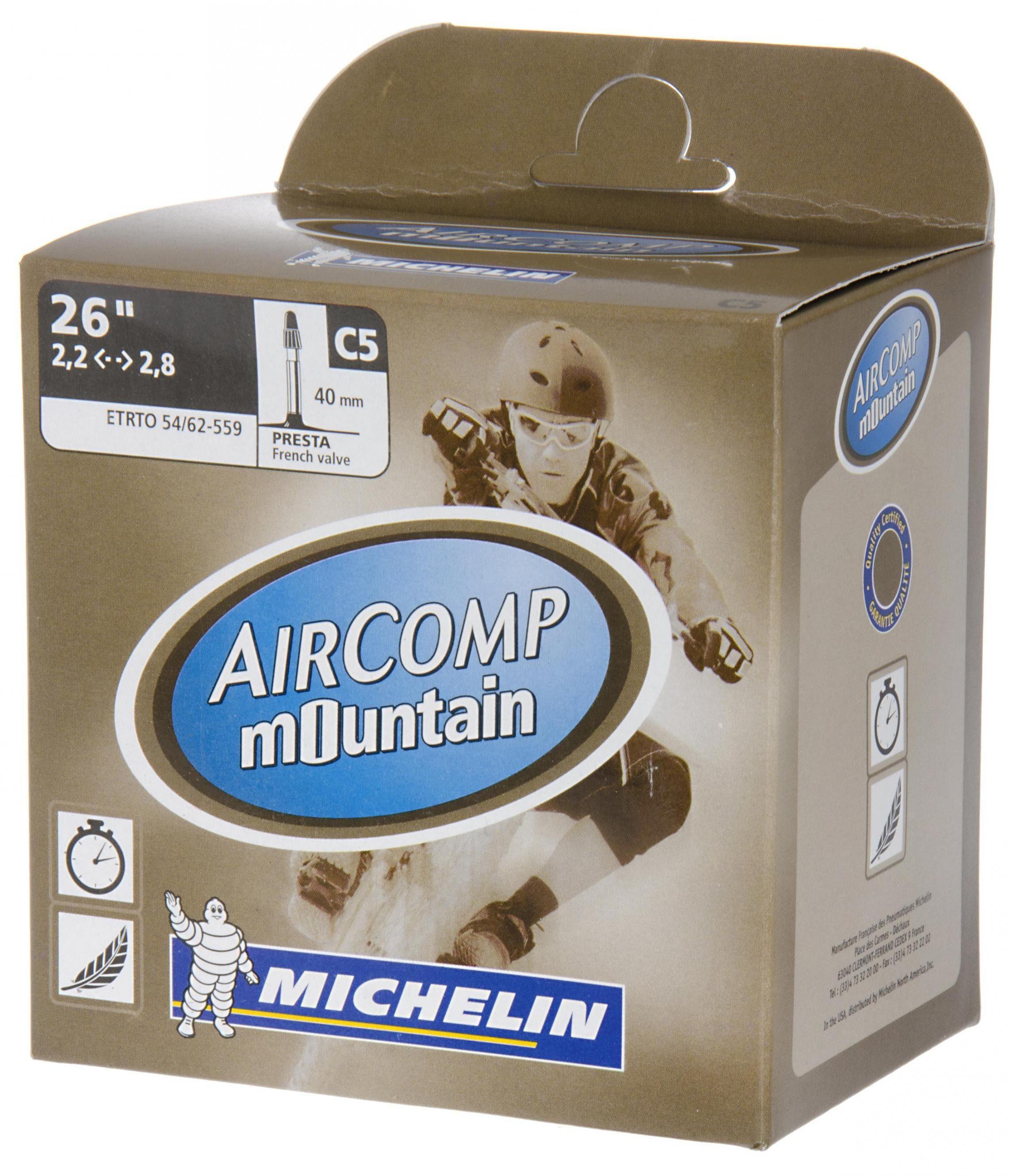 Michelin Fahrradschlauch »C5 Aircomp Fahrradschlauch 26 Zoll SV 40 mm«
