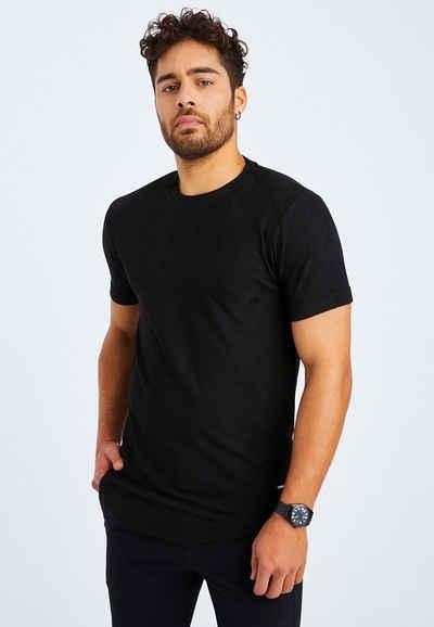 Leif Nelson T-Shirt »Herren T-Shirt Rundhals LN-55585«