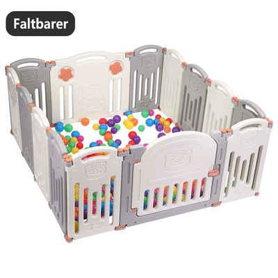 FCH Laufgitter »L12+2«, Laufgitter Laufstall Baby Krabbelgitter Absperrgitter faltbar Schutzgitter Mit Tür