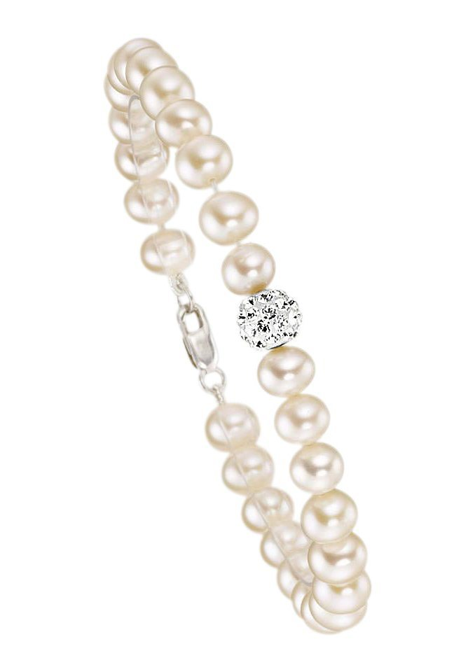 Brautschmuck armband perlen firetti Armschmuck: Armband mit Perlen und Zirkonia - perfekt als ...