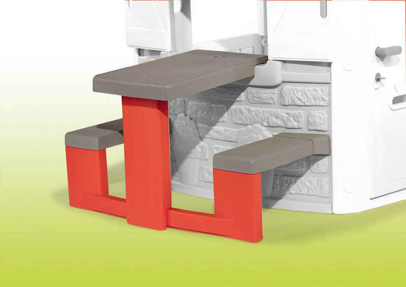 Smoby Spielhaus Zubehör Picknicktisch, Made in Europe