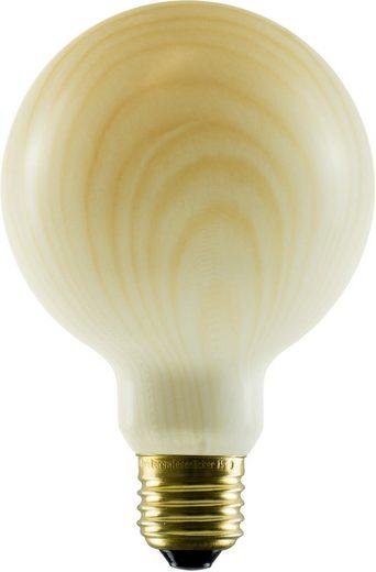 SEGULA »Globe« LED-Leuchtmittel, E27, 1 Stück, Extra-Warmweiß, LED im Vintage Style, warmes Licht, Holzoptik LED, LED dimmbar, dimmbare LED Lampe