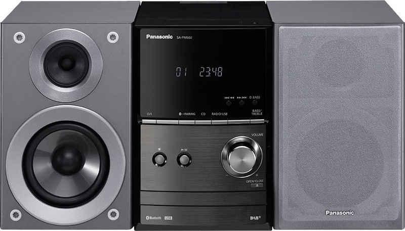 Panasonic »SC-PM602 Micro-« Kompaktanlage (Bluetooth, UKW Radio, Digitaluhr, Display mit Uhranzeige, Sleep-Timer)