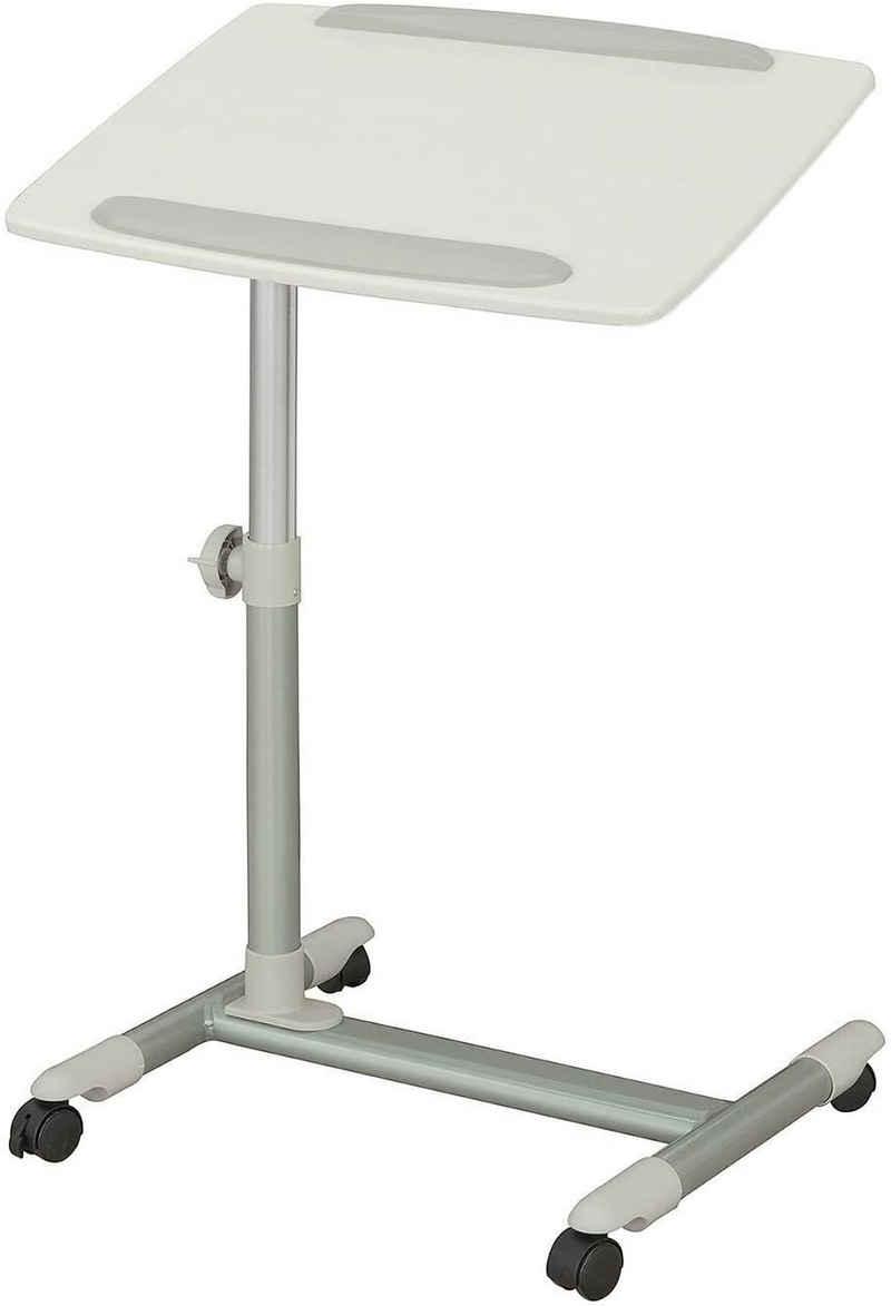 SoBuy Laptoptisch »FBT07N2«, Beistelltisch Pflegetisch Betttisch Tisch weiß