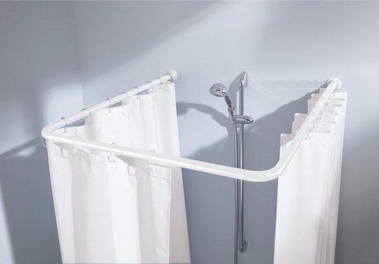 Duschvorhangstange »Universalstange«, Kleine Wolke, Ø 25 mm, kürzbar, für Duschvorhänge, in 3 verschiedenen Varianten nutzbar