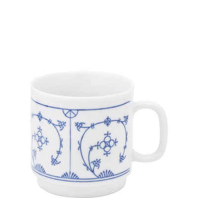 Kahla Becher »Blau Saks 0,30 l«, Porzellan, von Hand dekoriert