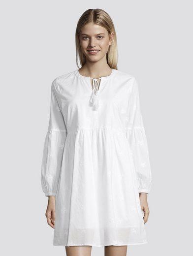 TOM TAILOR Denim Sommerkleid »Sommerliches Kleid mit Tasseln«