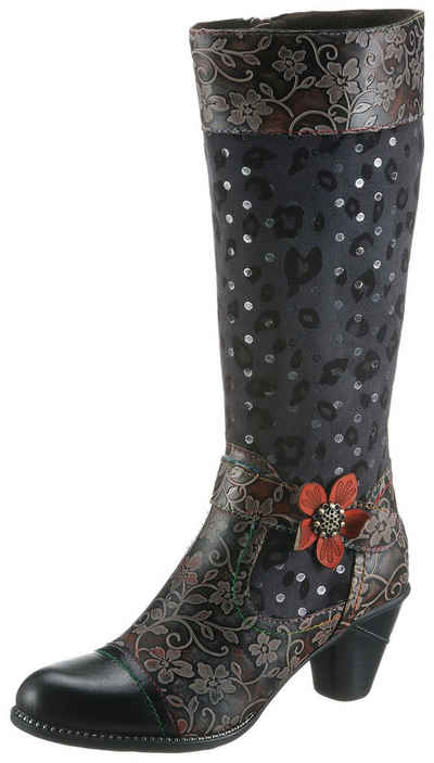 LAURA VITA »Alcizeeo« Stiefel mit auffälliger Blüte