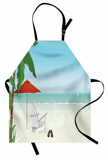 Abakuhaus Kochschürze »Höhenverstellbar Klare Farben ohne verblassen«, Nature Scene Graphic Strand Schauer