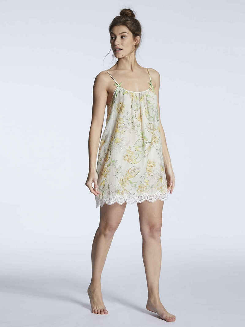 Eva B.Bitzer Nachthemd »Nachtkleid mit Seide, Länge 85cm« (1-tlg)