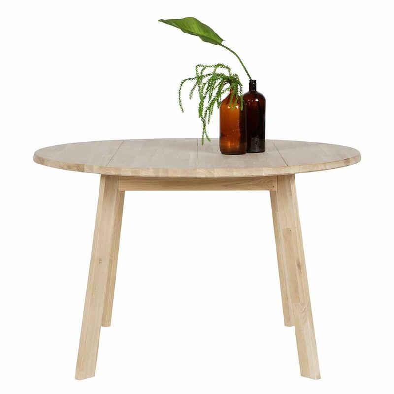Pharao24 Esstisch »Stonya«, aus Massivholz, mit runder Tischplatte