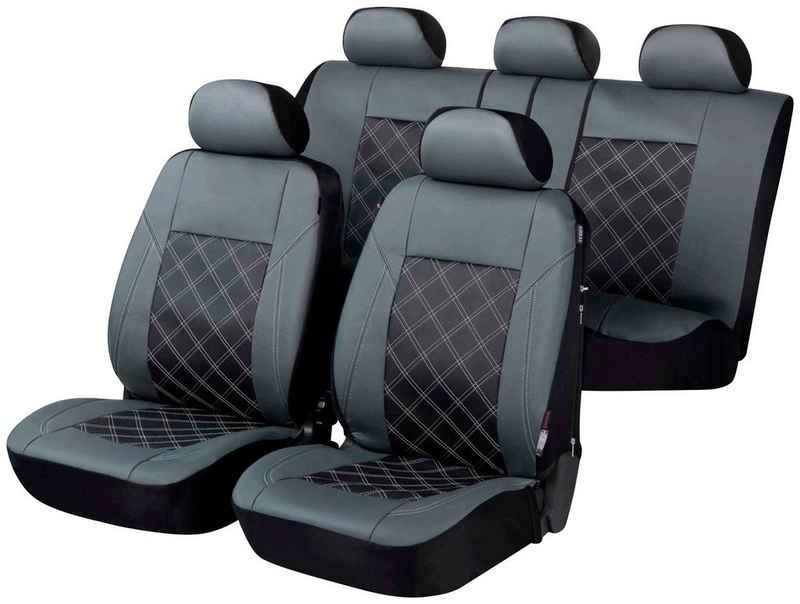 WALSER Autositzbezug »ZIPP IT Deluxe Durham«, Set, mit Reißverschluss-System