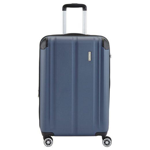 travelite Trolley »City 4-Rollen-Trolley erw. M 68 cm«, 4 Rollen