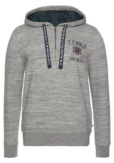 TOM TAILOR Polo Team Kapuzensweatshirt mit Reißverschluss und Kordel