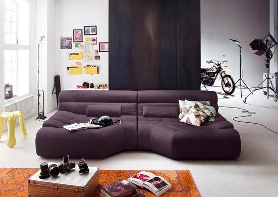 KAWOLA Sofa »TARA«, XXL Big Sofa Stoff inkl. Kissen versch. Farben