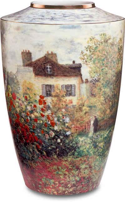 """Goebel Tischvase »Vase Claude Monet - """"Das Künstlerhaus""""« (1 Stück), aus Porzellan, Höhe ca. 24 cm"""