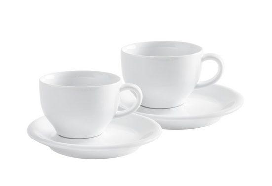 Kahla Cappuccinotasse »Café Sommelier Set 4 teilig«, Porzellan, Made in Germany