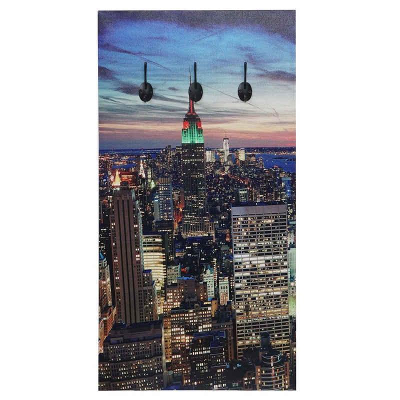 MCW Garderobe »MCW-C75-LED«, Schöner Leuchteffekt mit 4-Stunden Timer (Ein-, Ausschalten), 6 Haken