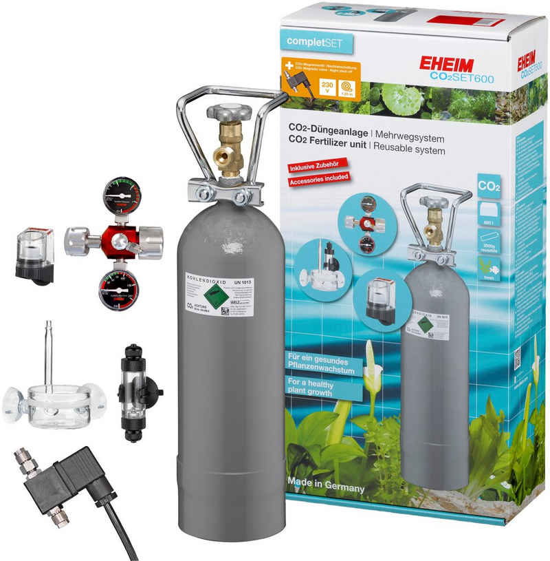 EHEIM Aquariumpflege »CO2-Düngeanlagen-Set 600«, (Set), Mehrwegsystem