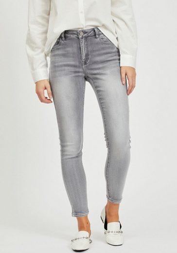 Vila 7/8-Jeans »VIEKKO« mit modischen Used Effekten