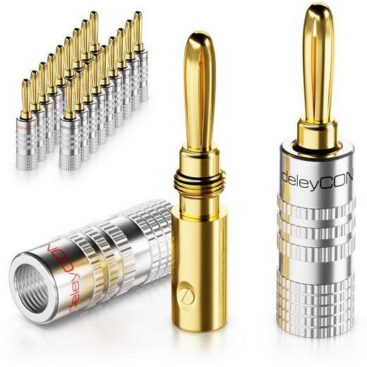 deleyCON »deleyCON 20x Bananenstecker Schraubbar für Lautsprecherkabel von 0,75mm - 4mm« Adapter