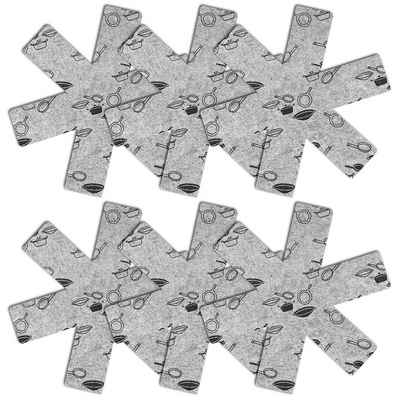 Wellgro Topflappen »Pfannenschoner - Material Filz - Kratzschutz, Stapelschutz, Pfannentrenner, Topfuntersetzer, Topfschutz, Pfannenschutz«, (6-tlg)