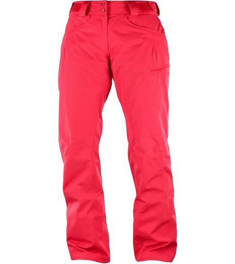 Salomon Skihose »Salomon Fantasy Ski-Hose vielseitige Funktions-Hose für Damen Outdoor-Hose Rot«